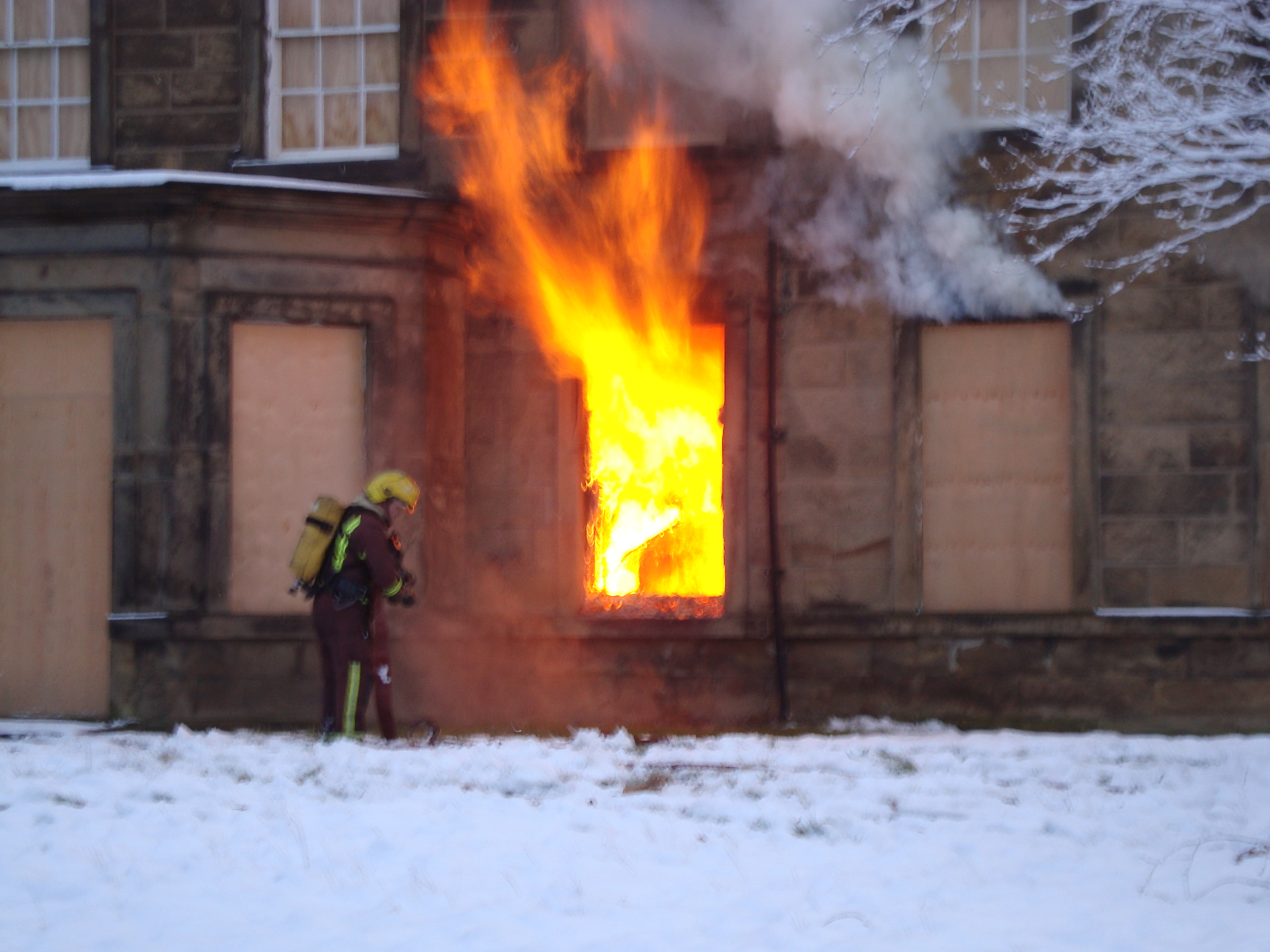 Brierley Hall Fire